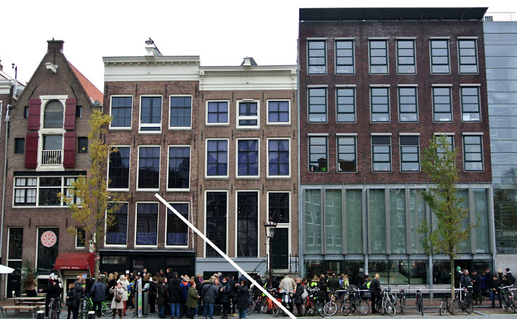 The exterior of the Anne Frank House and museum.  Photo: Emma Creese.