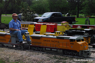 Photo: Jim Cash with UP 9449, a HALS Club Loco.  HALS-SLWS 2009-0523