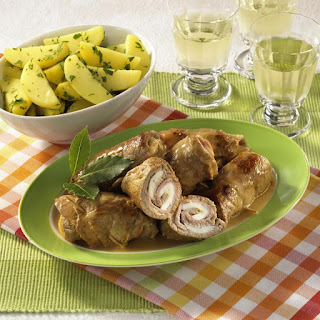 Veal Roulades with Garvy and Potatoes