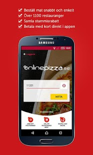 OnlinePizza food delivery app- screenshot thumbnail