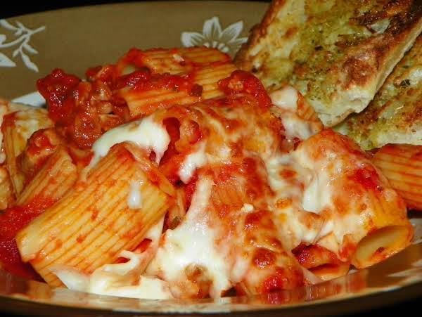 Rigatoni With Cheese And Italian Sausage Recipe
