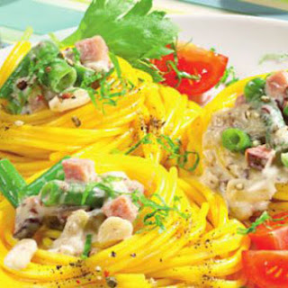 Corn Spaghetti With Mushrooms