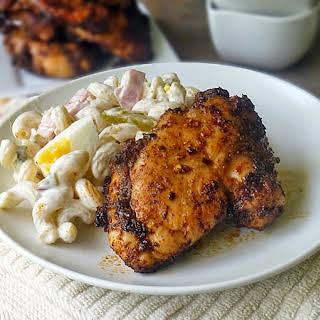 Honey Glazed Spicy Chicken Thighs.