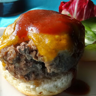 Quick and Easy Cheddar Barbecue Biscuit Burgers