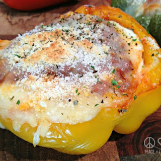 Lasagna Stuffed Peppers – Low Carb, Gluten-Free.