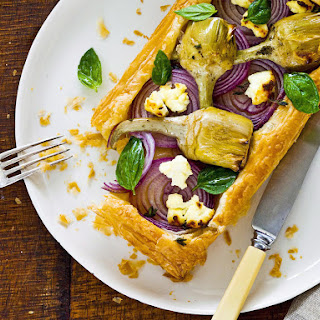 Artichoke, Rcotta and Onion Tarts