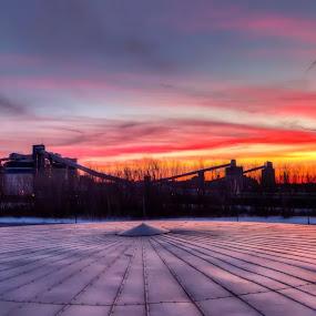 Indus dusk by Joe Hamel - Backgrounds Industrial