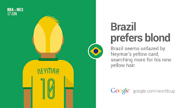 Photo: Will Neymar have more goals or hairdos this World Cup? #GoogleTrends