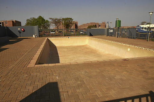 The empty recreational swimming pool at the University of Venda, in Thohoyandou, Limpopo, has cost the university almost R5-million.