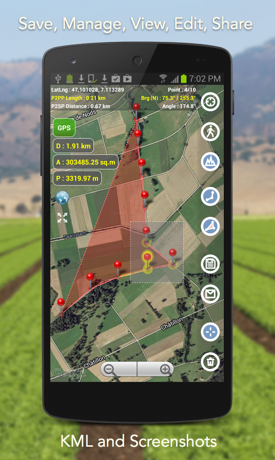 Planimeter - GPS area measure screenshot #19