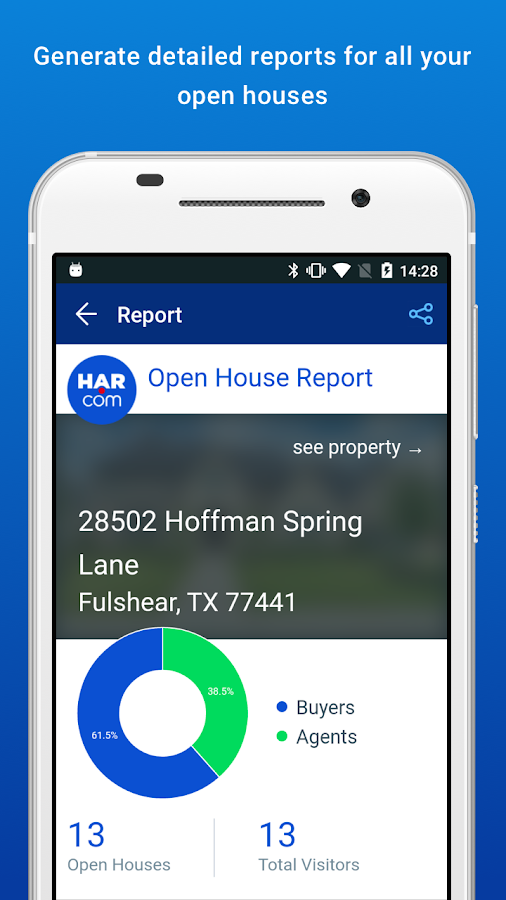 HAR Open House Registry- screenshot