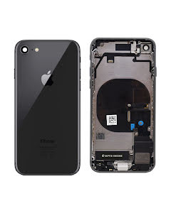 iPhone 8G Housing with small parts Original Pulled Black