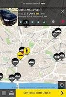 Screenshot of HOPIN TAXI