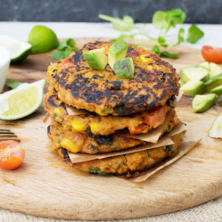 Sweet Potato & Black Bean Fritters [vegetarian]