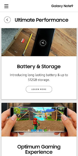 Experience app for Galaxy Note9 1.0.0 screenshots 2