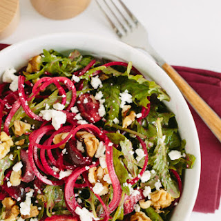 Goat Cheese, Beet Noodle and Cherry Salad Recipe