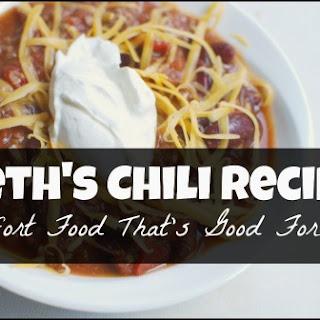 Beth's (Comfort Food) Chili.