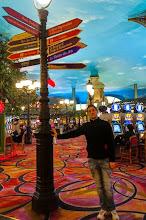 Photo: Daniele inside the Paris Las Vegas Hotel and Casino