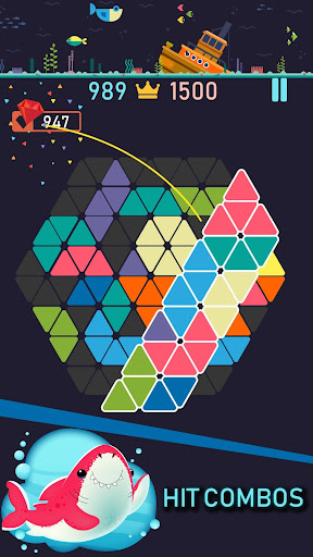 Trigon : Triangle Block Puzzle Game 1.8.3 gameplay | by HackJr.Pw 2