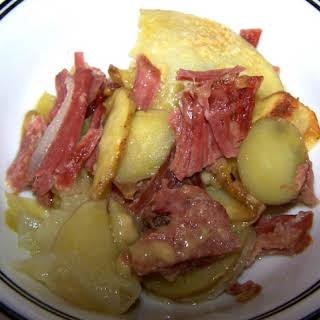 Irish Corned Beef and Potato Casserole.