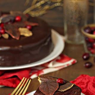 Cranberry Chocolate Truffle Cake