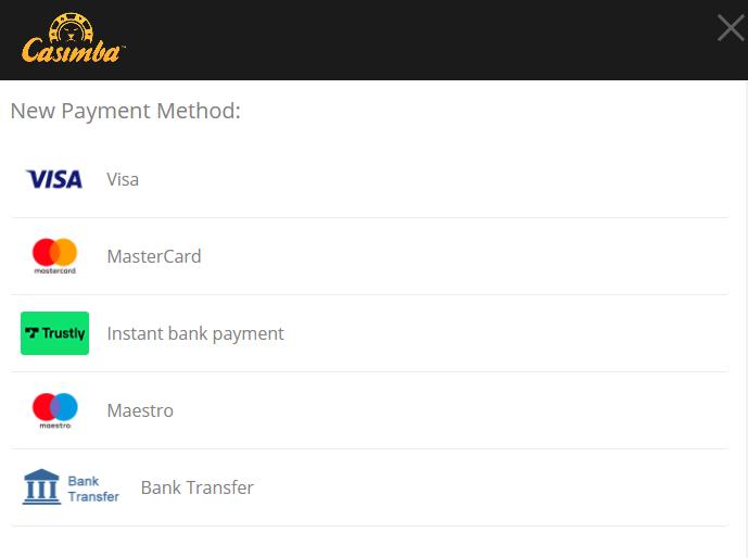 casimba payment options