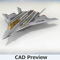 Flight aircraft carrier Type L (1/2400) full color model
