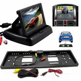 Monitor LCD pliabil de 4.3 inch + Suport numar auto camera video