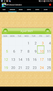 Multi Cultural Calendar screenshot 14