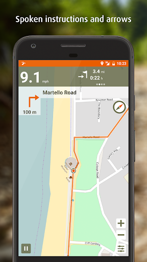 Naviki – the bicycle satnav screenshot
