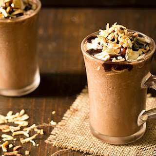 Toasted Coconut Frozen Hot Chocolate