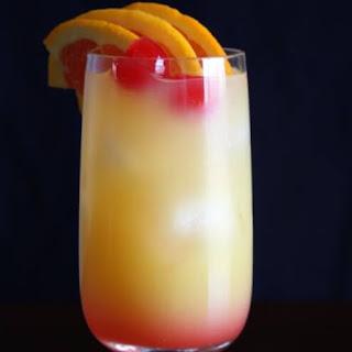 Tequila Sunrise Cocktail.