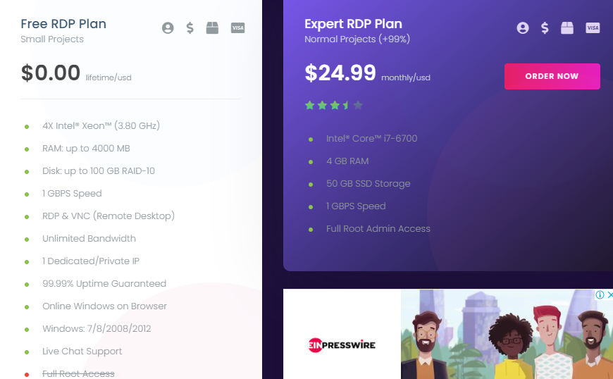 Ixremote plans and pricing