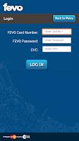 Screenshot of FEVO Prepaid MasterCard®