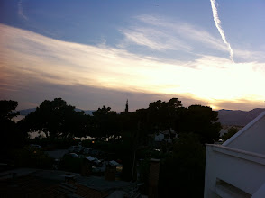 Photo: Sunset from the hotel room's balcony