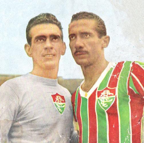 C:\Users\Carla\Desktop\Blog MULHERES EM CAMPO\Idolos Inesquecíveis\O goleiro Castilho e o zagueiro Pinheiro, que entraram para a história do Fluminense. Foto Reprodução A Gazeta Esportiva.jpg