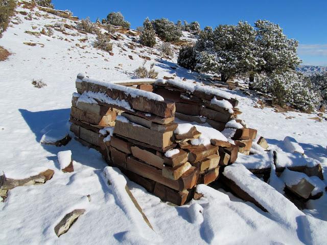 Ruined stone cabin