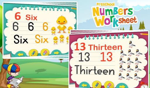 Preschool Numbers Worksheet v1.0.0