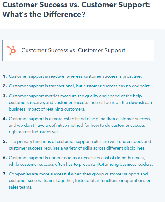 customer success and customer support - differences and alliances