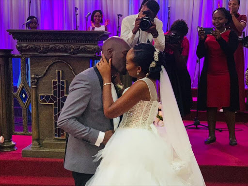 Dennis Okari weds at low-key event. /COURTESY
