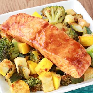 Spicy BBQ Salmon & Veggies