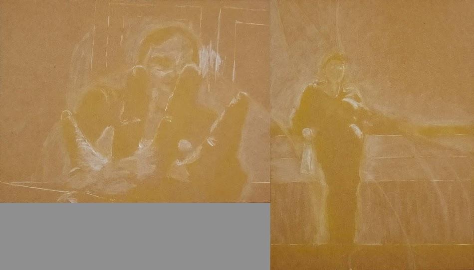 miroir 10 reprise des clartés à la tempera blanche, au couteau et au chiffon