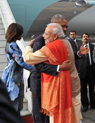 Welcomed President Barack Obama & Michelle Obama to India.