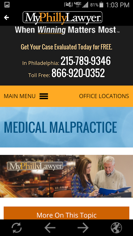MyPhillyLawyer- screenshot