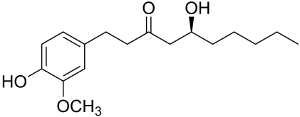Image result for gingerol structure