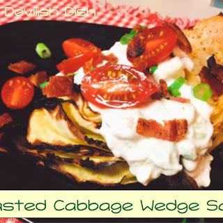 Roasted Cabbage Wedge Salad with Yogurt Gorgonzola Dressing