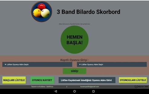 3 Bant Bilardo Skorbord - náhled