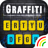 Yellow Graffiti Wall Keyboard Theme Android APK Download Free By Powerful Phone