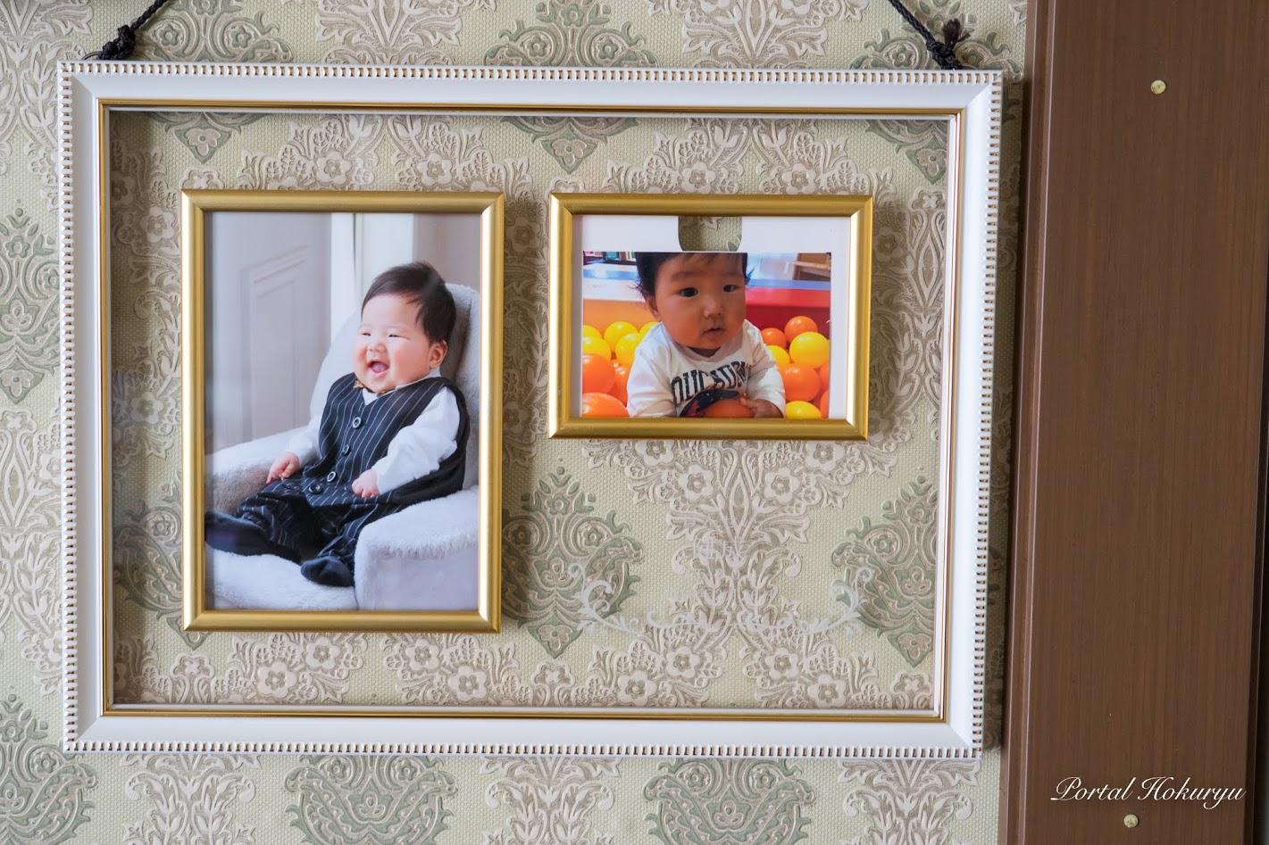 お孫さんの写真