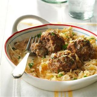 German Meatballs with Sauerkraut.